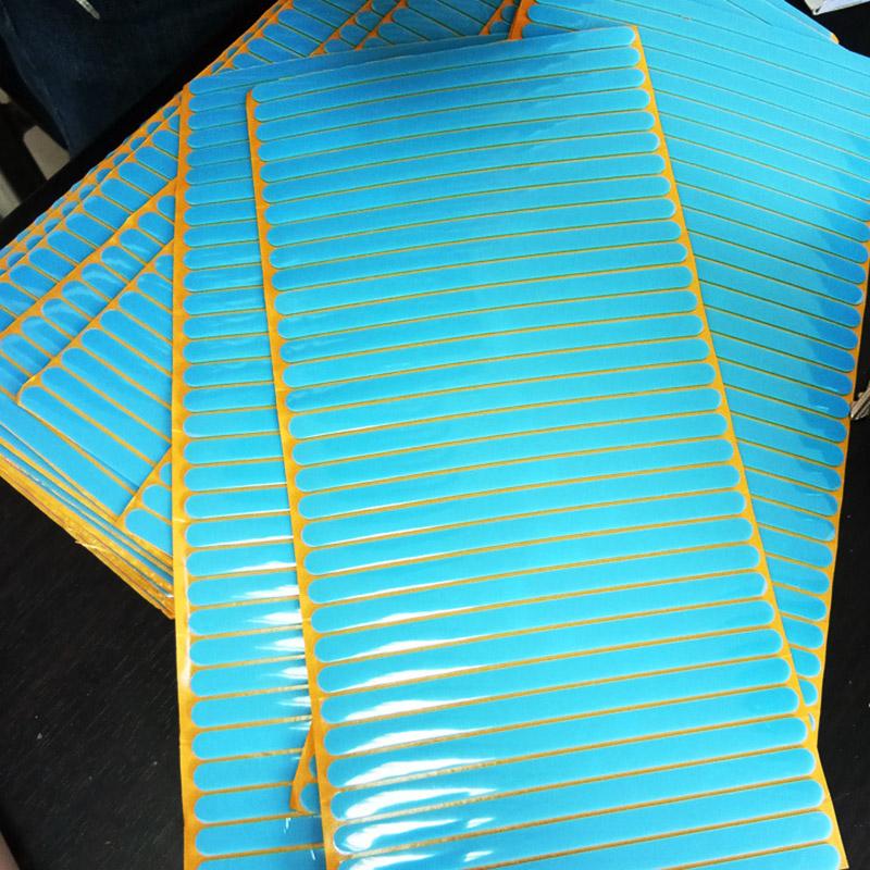 单面背胶蓝色硅胶脚垫防滑橡胶垫片